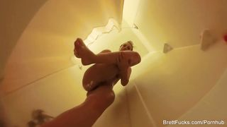 Brett Rossi shower solo 2