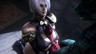 Soulcalibur Porn SFM Ivy Valentine Titfucked By The Lizard Monster HD 720p