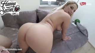 German Blonde Superstar Sucks And Fucks - Hanna Secret  - HD 720p