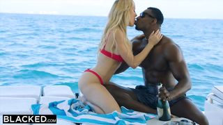 Sexy Big Tits Blonde Gets BBC In Her Pussy In The Yacht - Brandi Love, Jax Slayher - HD 720p