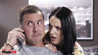 Brazzers - 1800 Phone Sex - Caught Dirty Talking - Nicolette Shea, Angela White - HD 720p