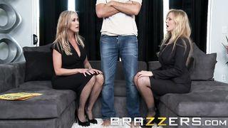 Brazzers - Keiran Lee fuq two hot blondes - Brandi Love, Julia Ann Share - HD 720p