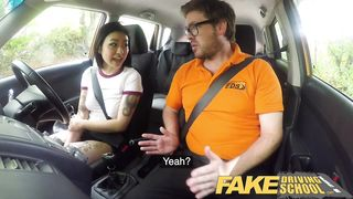 Fake Driving School - Sexy Japanese Hot for Instructors Cock - Rae Lil Black, Ryan Ryder - HD 720p