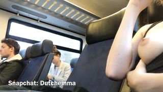 Teen Public Masturbation On A Train - Dutch Emma - HD 720p