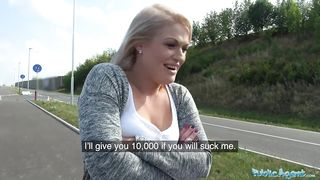 Public Agent - Czech blonde fuck for 10000 Koruna - HD 720p