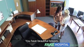 Fake Hospital - Patient And Nurse Lesbian Sex in Doctor`s Cabinet HD 720p