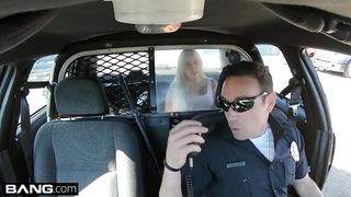 Young student girl fucked by cop in a copcar HD 720p