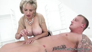 Big Tits Slim Granny Play With Young Cock - Lady Sonya - HD 720p
