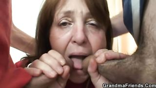 60 yo + Mom Boss Double Fucks