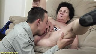 Granny Sex 72 And 19 Years Old Couple Fucks
