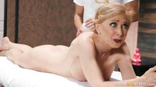 BRAZZERS Granny Porn Milfy Massage - Nina Hartley, Xander Corvus