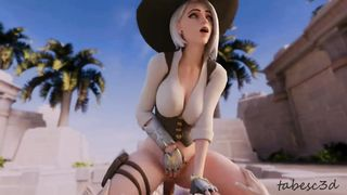 Overwatch Game Porno No Sound - Ashe - HD 720p