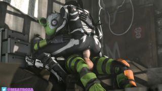 Fortnite SFM Porn 2019 - Cuddle Team Leader, Skull Trooper - HD 720p