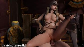 Overwatch Demon Hunter Sombra Anal HD 720p
