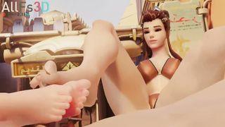 3D Overwatch Porn Threesome -  Mei, Brigitte - HD 720p