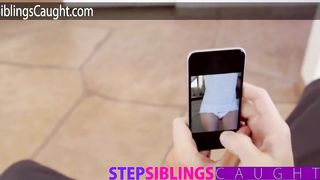 Step Siblings Caught - Sister Blackmailed By Brother - Alex Grey - HD 720p