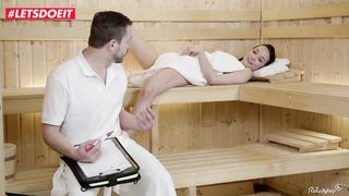 Sex With A Stranger in the Sauna - Francys Belle