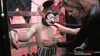 FrenzyBDSM Two Girls Sadistic Nipple Domination
