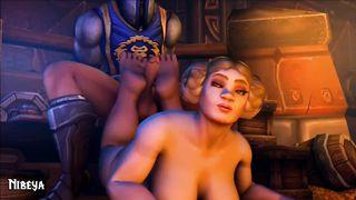 World of Warcraft Big Tits Porn Footjob