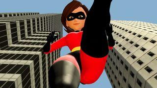 3D Giantess Worship - Helen Parr Elastigirl Incredibles 2 SFM  HD 720p