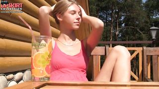 Exciting video! Beautiful girl without panties - Krystal Boyd - HD 720p