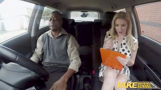 Fake Driving School - Interracial Sex Drive Lesson - Georgie Lyall - HD 720p