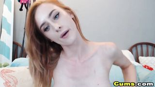 Ginger Head Babe Fucking Her Pussy And Ass