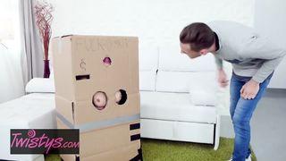 Twistys - Cardboard Gloryhole - Sandra Wellness - HD 720p
