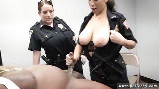 USA Police 3X Porn Interraclial FMF 1 Guy 2 Girls