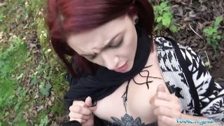 Public Agent - Redhead Girl have sex With a Stranger Outdoors - Lola Fae - HD 720p