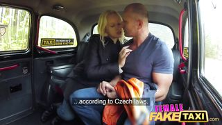 Female Fake Taxi - Big Tits Czech Woman Driver Fucked Her Muscle Passenger [English Subtitles] - Angel Wicky, George Uhl