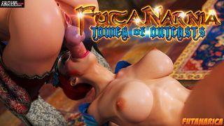 Fantasy heroes having futa threesome sex