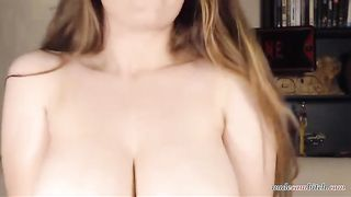 European Busty Teen Babe Shows of her Huge Tits on Webcam - more on nudecambitch.com