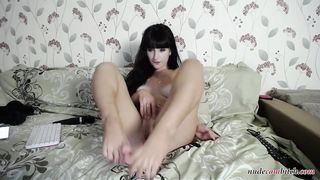 Brunette Girl Shows off her Perfect Pussy on Webcam - more on nudecambitch.com