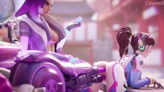 Fucking Sex Machine Overwatch D.Va Sombra