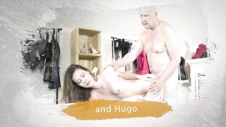 Hugo old dad 60 plus fuck her younger step daughter 18 years