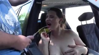 xvideo piss on big tits woman in a car