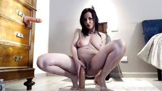 naughtyelle show060119 - anal, amateur, selffuck, doublepenetration, squirting, mom, shavedpussy, masturbation, brunette, milf