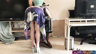 Erin Electra Stepmom gets stuck while sneaking out and fucks stepson to get free