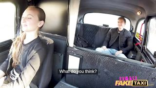 Female Fake Taxi Fuck me in my Fishnet Stockings
