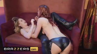 Brazzers - Blonde and Redhead Lesbians Lick Pussy after Poker