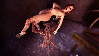 Monsters having orgy with witches in a new 3d aniamtion