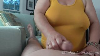 MorningPorn - Intense Fast Handjob + Ruined Precum Cumshot, Amazing XXX 2019 HD 720p