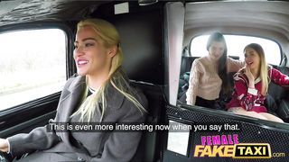 Mother and stepdaughter gets sex tape in fake taxi - Cherry Kiss, Anna Di and Hayli Sanders - Female Fake Taxi 2019 HD 720p