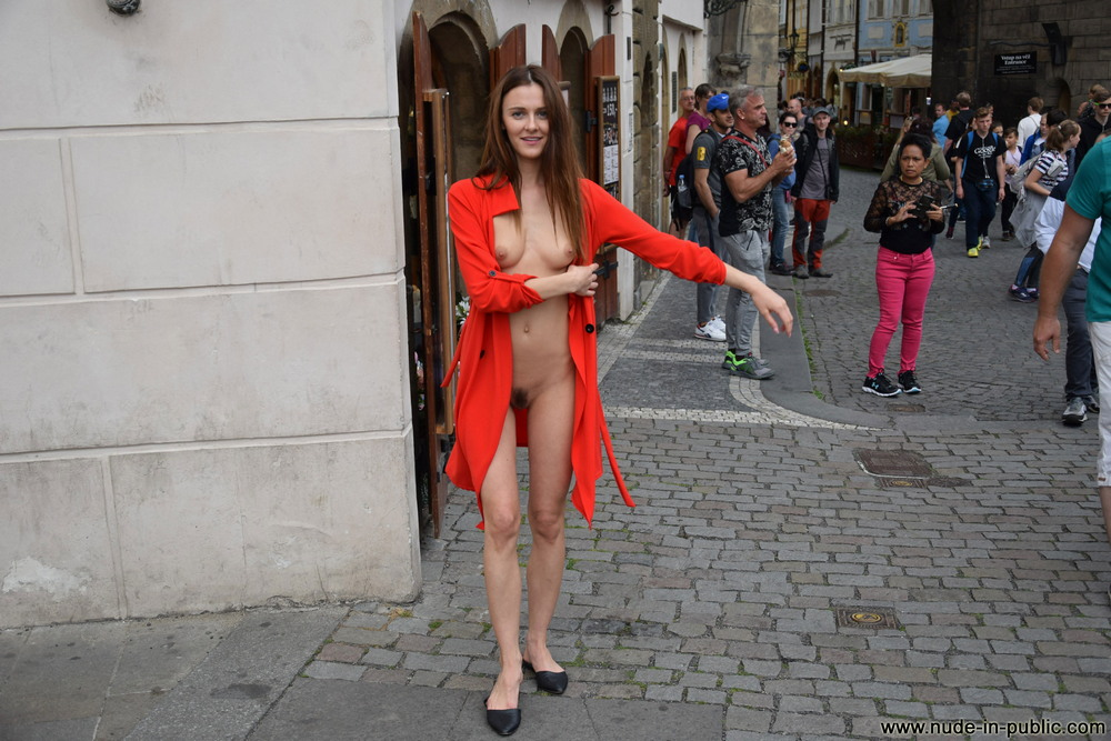 You are Young naked girl on the streets